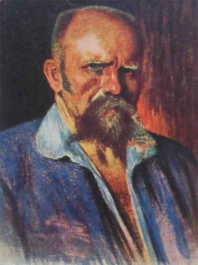Ants Laikmaa Estlandse Schilder Zelfportret 1920