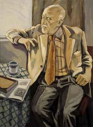 Einar Hákonarson Schilderij van de IJslandse schrijver Halldor Laxness