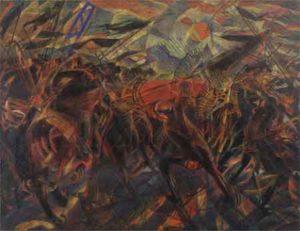 Italiaanse Schilders Schilderijen Carlo Carra Il Funerale dell'anarchico Gall