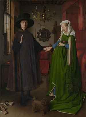 Jan van Eyck Portret van Giovanni Arnolfini en zijn vrouw National Gallery Londen