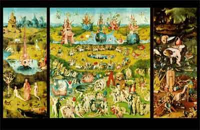 Jeroen Bosch Tuin der lusten Schilderij Drieluik Prado Museum Madrid