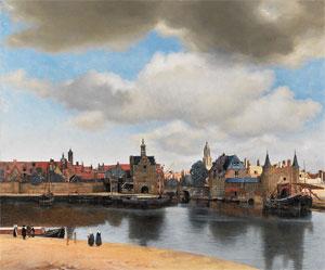 Johannes Vermeer Gezicht op Delft 1660-1661 Mauritshuis Den Haag