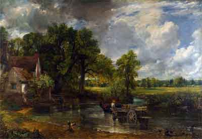 John Constable De hooiwagen Schilderij 1821