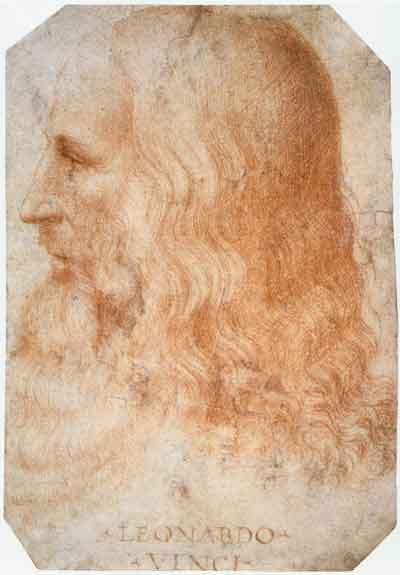 Leonardo da Vinci Portret door Francesco Melzi