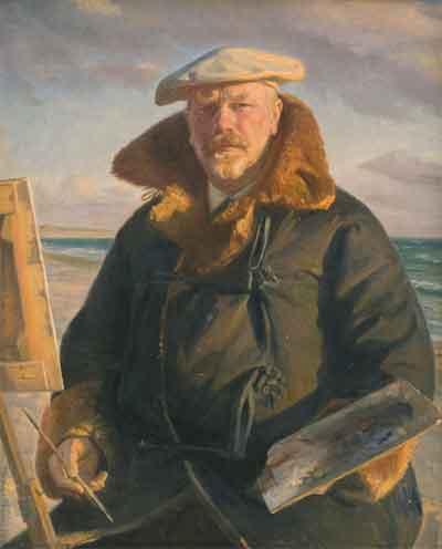 Michael Ancher Deense Schilder Zelfportret 1902