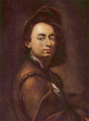 Petr Brandl Zelfportret 1700 Tsjechische Barokschilder