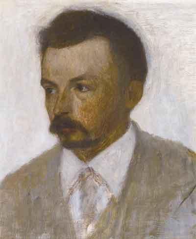 Vilhelm Hammershoj Zelfportret Deense Schilder 1895