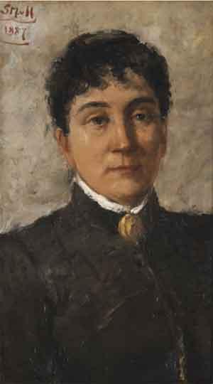 Betzy Akersloot-Berg Schilderij van Sientje van Houten 1887