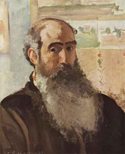 Camille Pissarro Zelfportret uit 1873 Schilderij