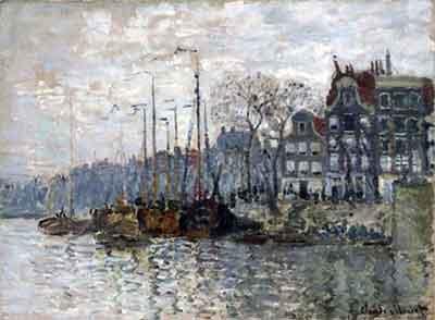 Claude Monet Gezicht op de Kromme Waal Schilderij uit 1874