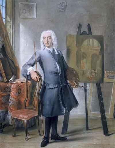 Cornelis Troost Zelfportret Schilderij uit 1745