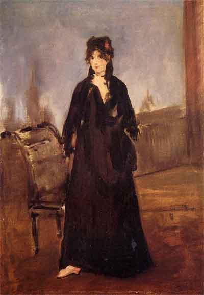 Édouard Manet Berthe Morisot au soulier rose Schilderij uit 1872