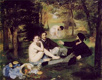 Edouard Manet Le Déjeuner sur l'Herbe Schilderij uit 1863