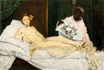 Edouard Manet Olympia Schilderij uit1863