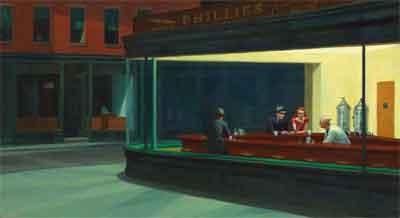 Edward Hopper Nighthawks Schilderij uit 1942