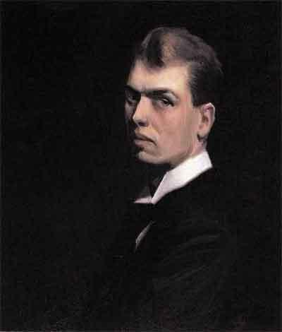Edward Hopper Zelfportret Schilderij uit 1906