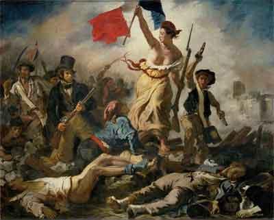 Eugène Delacrois La Liberté guidant le peuple Schilderij uit 1830