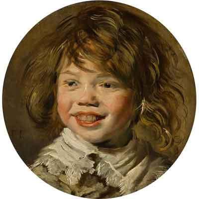 Frans Hals De lachende jongen Schilderij uit 1625