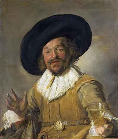 Frans Hals De vrolijke drinker Schilderij uit 1628-1630