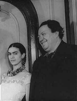 Frida Kahlo en Diego Rivera Foto uit 1932
