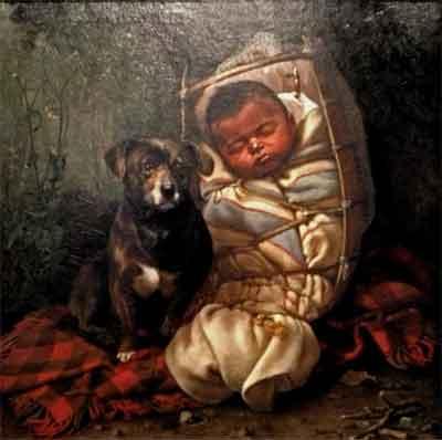 Grace Hudson National Thorn Schilderij uit 1891