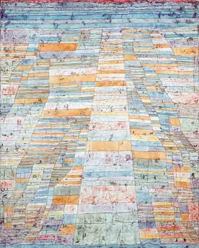 Hauptweg und Nebenwege Paul Klee Schilderij uit 1929