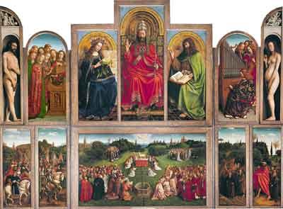 Hubert en Jan van Eyk Het Lam Gods Schilderij uit 1432
