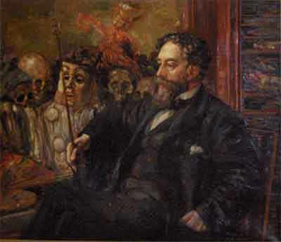 James Ensor Portret Henry De Groux Schilderij uit 1907