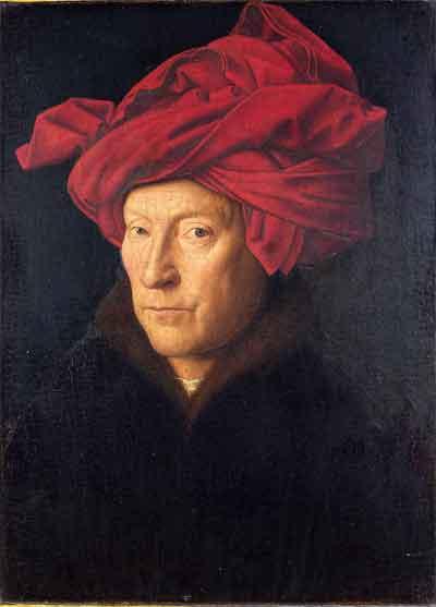 Jan van Eyck Portret van een man met rode tulband Schilderij uit 1433