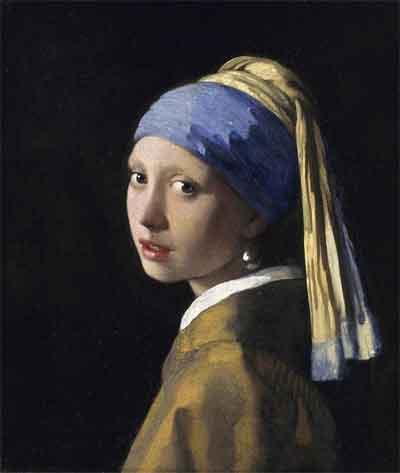 Johannes Vermeer Meisje met de parel Schilderij uit 1665