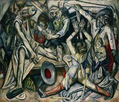 Max Beckmann Die Nacht Expressionistisch Schilderij uit 1918-1919
