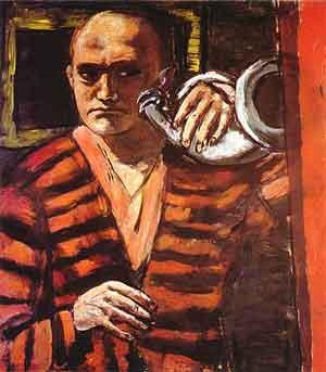 Max Beckmann Zelfportret met hoorn Expressionistische Schilders