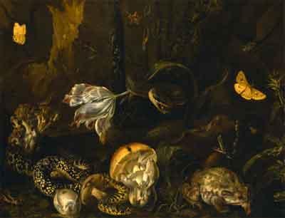 Otto Marseus van Schrieck Schilderij