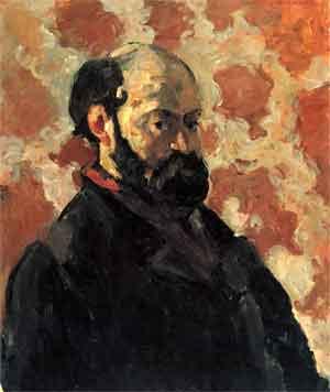 Paul Cézanne Zelfportret voor vaalrode achtergrond