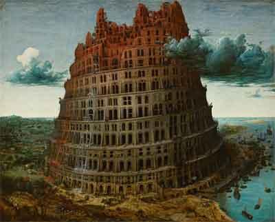 Pieter Bruegel de Oude De Toren van Babel Schilderij Museum Boijmans van Beuningen