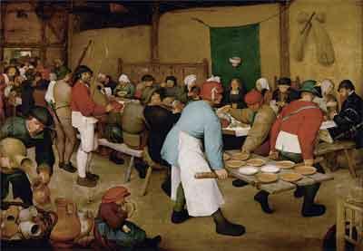 Pieter Bruegel de Oude De boerenbruiloft Schilderij uit 1567-1568
