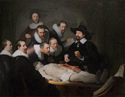 Rembrandt De anatomische les van Dr. Nicolaes Tulp Schilderij uit 1632