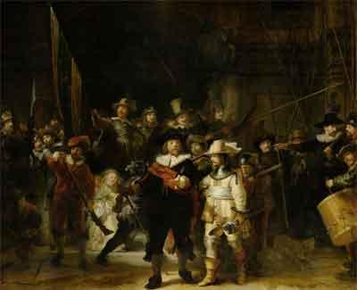 Rembrandt De nachtwacht Schilderij uit 1642