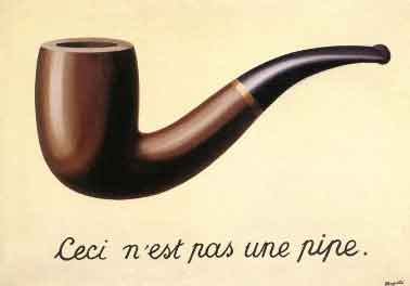 René Magritte Ceci n'est pas une pipe Surrealistisch Schilderij uit 1928-1929