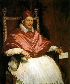 Velazquez Schilderij Paus Innocentius X Portret uit 1650