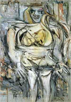 Willem de Kooning Woman III Schilderij uit 1953