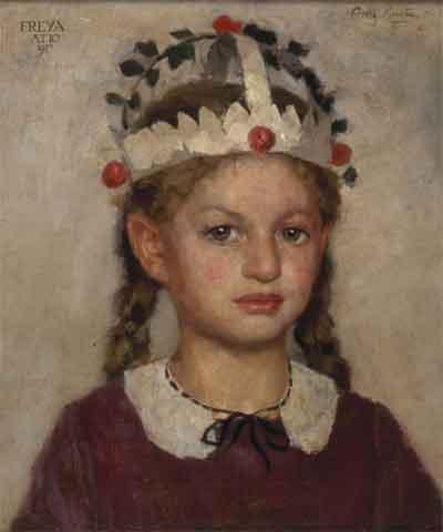 Georg Rueter De Verjaardagskroon Schilderij uit 1917