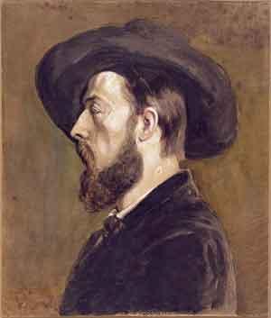 Gustave Courbet Portret van Jongkind Dallas Museum of Art