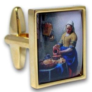 Manchetknopen Het Melkmeisje Johannes Vermeer