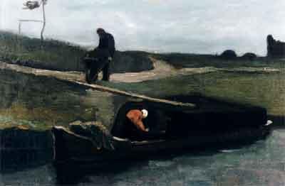 Vincent van Gogh De Turfschuit Schilderij Drenthe