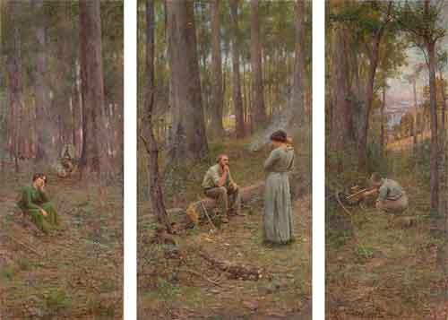 Frederick McCubbin The pioneer Schilderij uit 1904