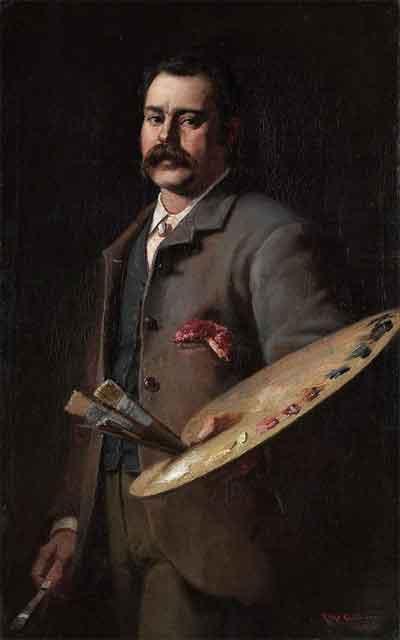 Frederick McCubbin Zelfportret Schilderij uit 1886