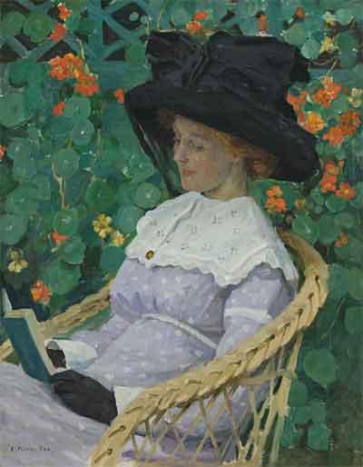 Nasturtiums E. Phillips Fox Schilderij uit 1912