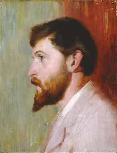 Tom Roberts Portret van Arthur Streeton Schilderij uit 1891