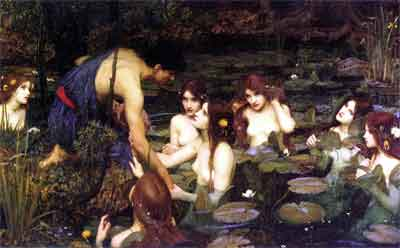 John William Waterhouse Hylas and the Nymphs Schilderij uit 1896